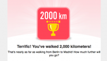 2,000km achievement