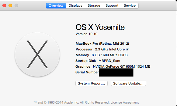 Yosemite, Apple's 10.10 version of its operating system