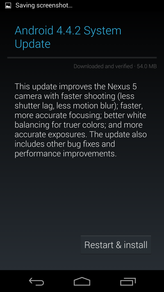 4.4.2 update announcement, which improves the camera.  Ok, in a way