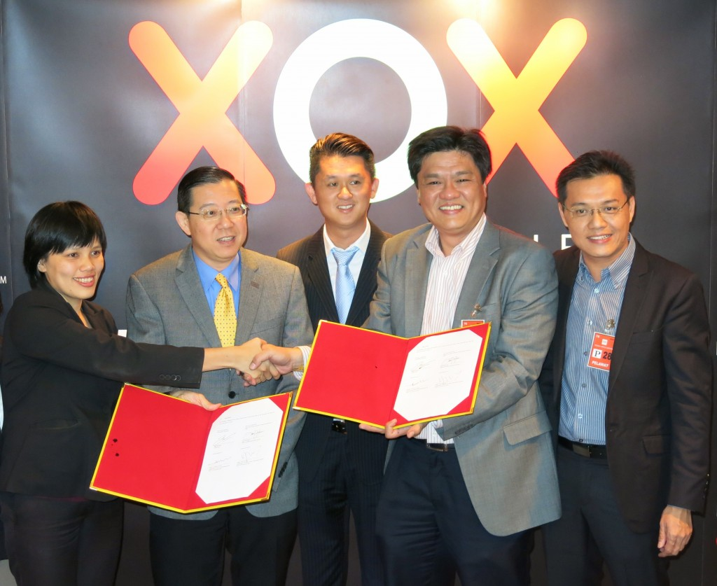 Partnership announcement between the State of Penang, Information Division and XOX Berhad