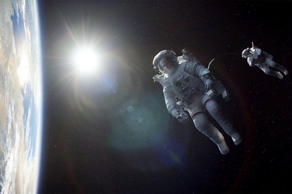 "A scene from the movie, ""Gravity"""