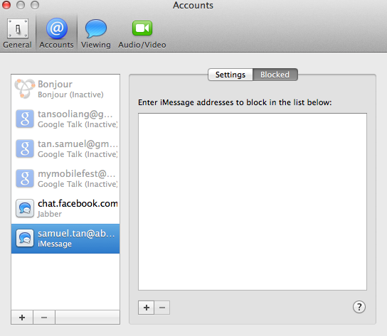 Blocking unwanted messages from senders